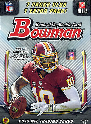 SALE  2013 Bowman NFL Football Cards Blaster Box- New sealed