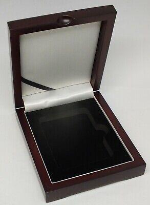 Wood Display Presentation Box 1 Coin Graded Slab NGC PCGS ANACS Safe Storage New