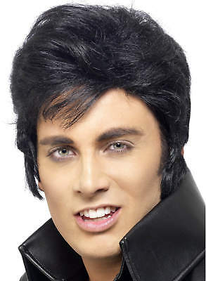 Erwachsene Elvis Presley Perücke 50s 50er 60er Karneval - Elvis Presley Kostüme Perücke