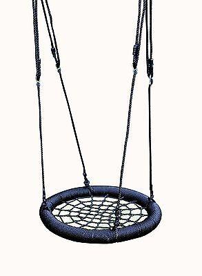 Kids Rope Outdoor Round Birds Crows Nest Spider Web Swing Seat 65cm