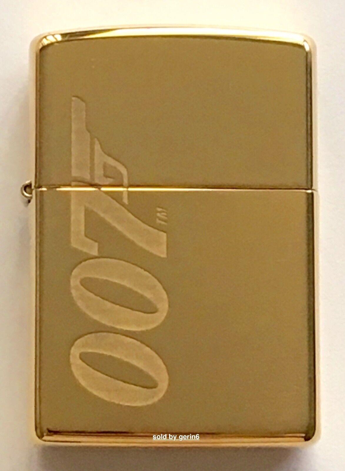 Zippo Windproof James Bond 007 Lighter With Logo, Solid Bras