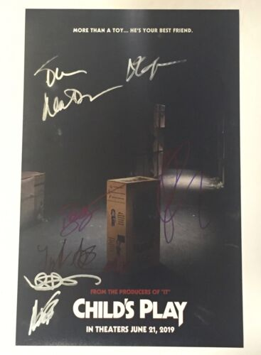 Child's Play 2019 Signed Autograph 11X17 Poster Cast Gabriel Bateman +7 COA