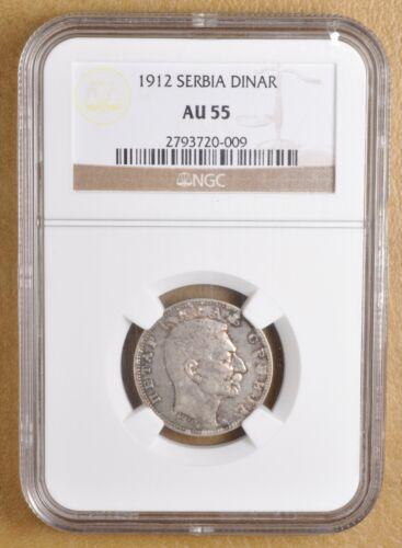 1912 Serbia Dinar NGC AU55