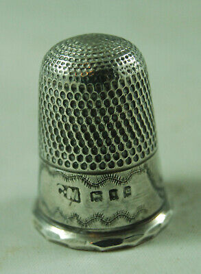 Antique Silver Thimble Charles May London 1918 3.8g 2.2cm x 1.8cm AZX