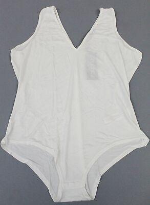 Boohoo Women's Plus Plunge Basic Bodysuit CK6 Ivory Size UK:20 US:16 NWT