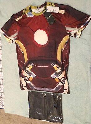 NWT Men's Sport Classic Fashion Alter Ego Iron Man Compression Shirt - Size 2XL