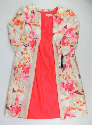 NWT $220 Danillo-Stefani Womens Plus Size 16W Floral Jacket 2-Piece Dress Suit