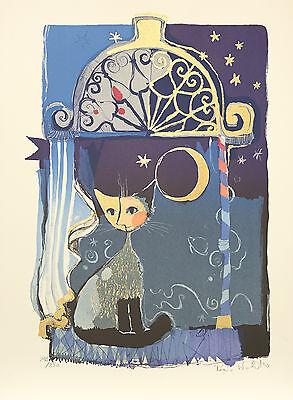 Rosina Wachtmeister MOND Orig Lithographie 56,5x76cm Sign. Numr. Limit. Aufl.