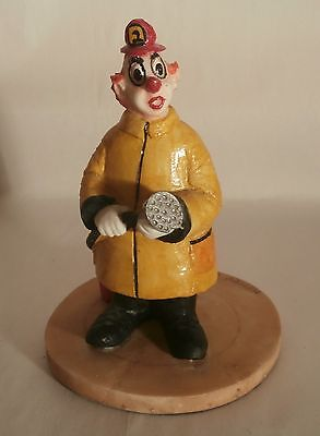 Center Ring Clowns - Clown Fireman Figurine - Cold Cast Marble by Henry Wilson