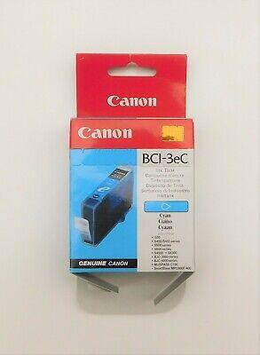 GENUINE CANON BCI 3e CYAN ink cartridge BJC3000 BJC6100 BJC6200S i850 S750