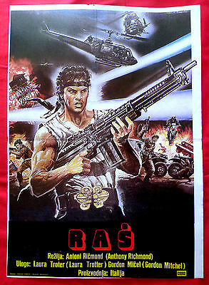 RUSH THE ASSASSIN 1983 GORDON MITCHELL LAURA TROTTER  SCI-FI EXYU MOVIE POSTER 2