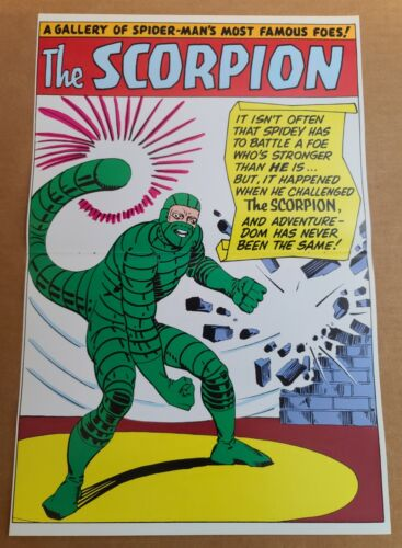 Scorpion pinup Amazing Spider-Man Annual Marvel Comics Poster by Steve Ditko