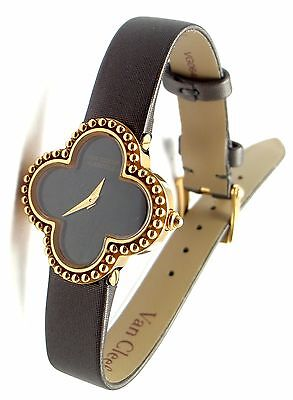 Authentic! Van Cleef & Arpels VCA Vintage Alhambra 18k Yellow Gold Ladies Watch