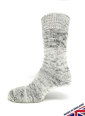 Wool all over cushioned thick soft cricket sock outdoor activities - grey S - XL