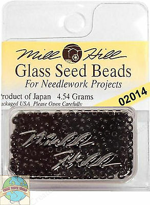 Mill Hill Glass Seed Beads 4.54g Black #02014