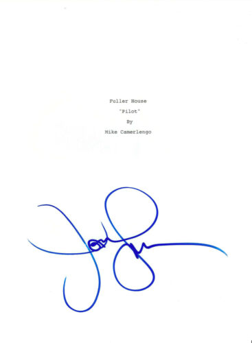 JOHN STAMOS SIGNED AUTOGRAPHED 'FULLER HOUSE' FULL PILOT EPISODE SCRIPT w/COA