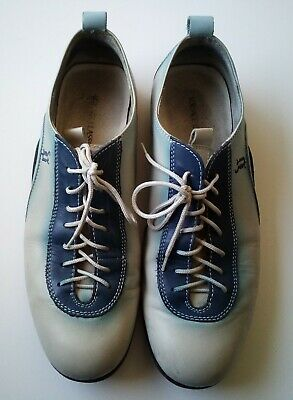 Versace Classic Men's Blue Shoes Size 43 US Size 9 Vero Cuoio