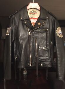 AVIREX vintage motorcycle leather jacket, early 90's