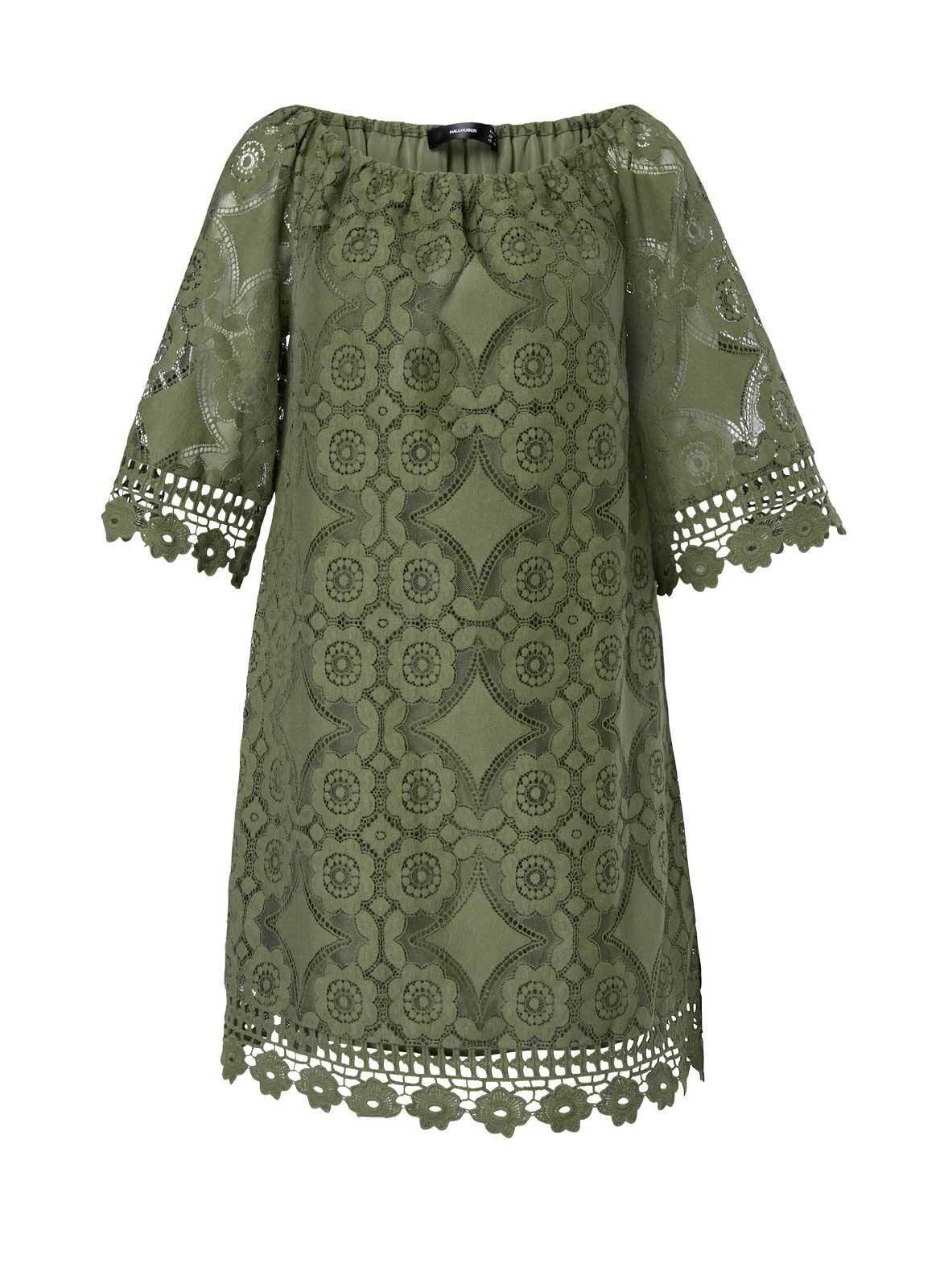 details zu hallhuber designer spitzenkleid oliv gr 34 36 38 40 kleid  business