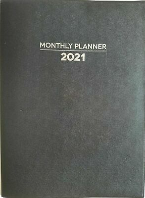 Jot 2021 Monthly Planner Appointment Calendar 10.25 X 75 Black  New