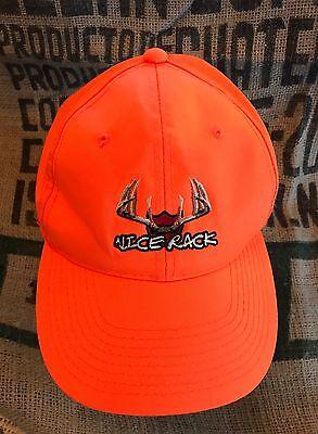 Vintage Hunting Safety Blaze Orange Nice Rack Hunting Baseball Hat Cap  Snapback 3e0c86860fb4