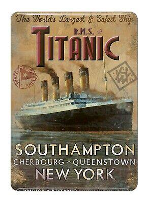 Titanic Vintage Coleccionistas Mini Letrero de Metal Imán de Nevera (Sg)