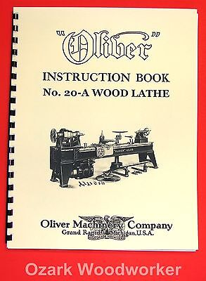 Oliver No. 20-a Pattern Makers Wood Turning Lathe Owners And Parts Manual 1034