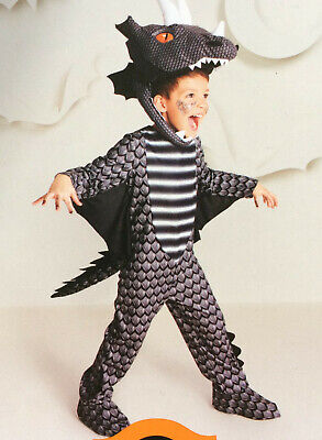 Black Dragon Halloween Dress Up Costume 18-24M Toddler Boys Girls - New Jumpsuit - Dragon Halloween Costume Toddler