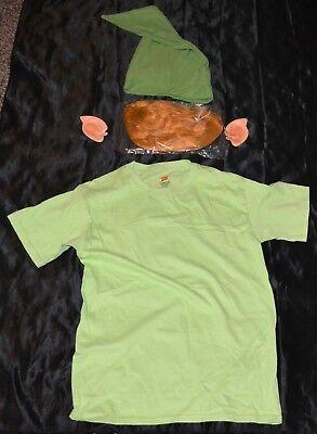 Link From Zelda Shirt Wig Ears & Hat Halloween Costume Adult Size: Small S Mens - Link From Zelda Halloween Costumes