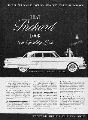 Used, 1954 Packard Patrician Illustration Look of Quality vintage print ad for sale  Skippack