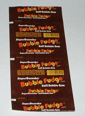 1970's Topps Super Bazooka Bubble Fudge bubble gum uncut sheet