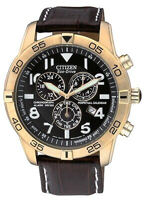 Citizen Eco-Drive Men's Chronograph Multi Dial Perpetual Calendar 44mm Watch