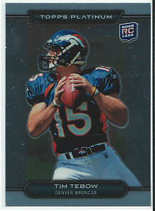 2010 Topps Platinum Tim Tebow Rookie Card #79 Broncos