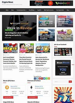 Cryptocurrency News Website - Run On Autopilot
