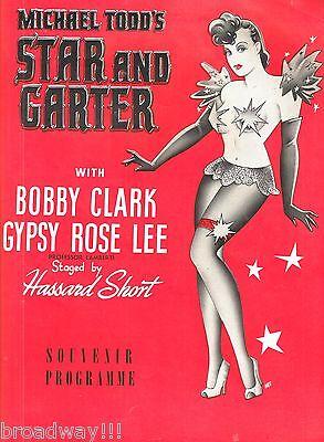 "Gypsy Rose Lee ""STAR and GARTER"" Bobby Clark / Michael Todd '42 Souvenir Program"