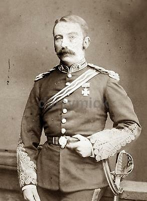 "Colonel John Chard Victoria Cross Rorke's Drift Zulu British Army 7x5"" Photo"