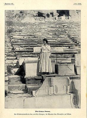 Isolda Duncan Wiedererweckerin des antiken Tanzes in Athen Bild+Text von 1903