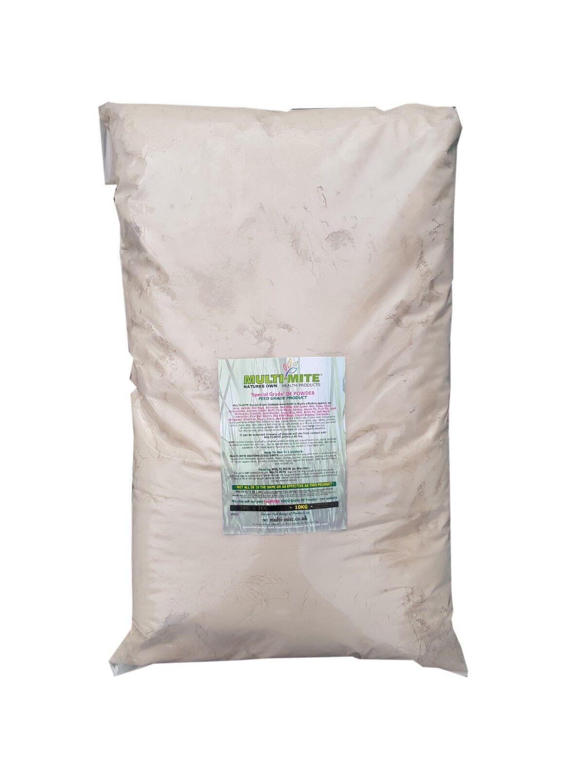 Multi Mite Diatomaceous Earth 10kg De Red Mite Worm Powder Feed Supplement Grade 7426799806525 Ebay