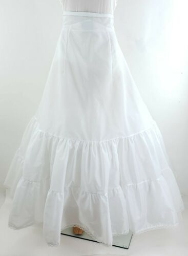 Davids Bridal 10 White Crinoline Petticoat Zip Underskirt Prom Wedding Dress
