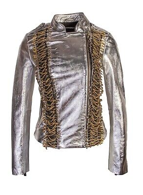 PINKO Women`s Leather Jacket Size 42 100% Lamb Leather