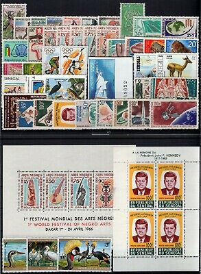 DJ146510/ SENEGAL / YEARS 1960 - 1992 MINT MNH MODERN LOT – CV 117 $