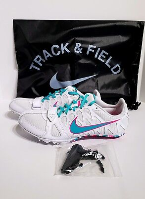 low cost 11967 edfc4 NIKE Zoom Rival S 6 Womens SZ 10 Track Field Spike Sprint Shoes 806558-604