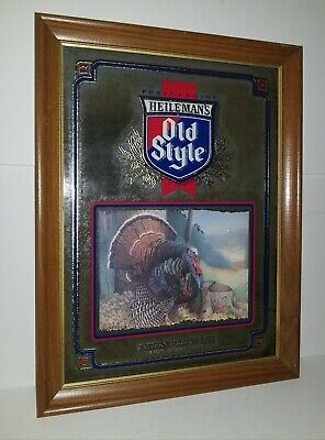 Heilemans Old Style Beer Wildlife Series Eastern Wild Turkey Mirror Sign for sale  Shipping to Canada
