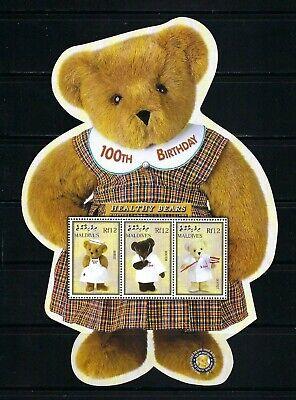 Maldives 2002 Sc#2658  Teddy Bears-Cent.  MNH Miniature Sheet  $5.75