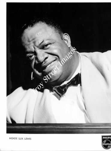 Orig promo photo #1 jazz & boogie pianist MEADE LUX LEWIS, late