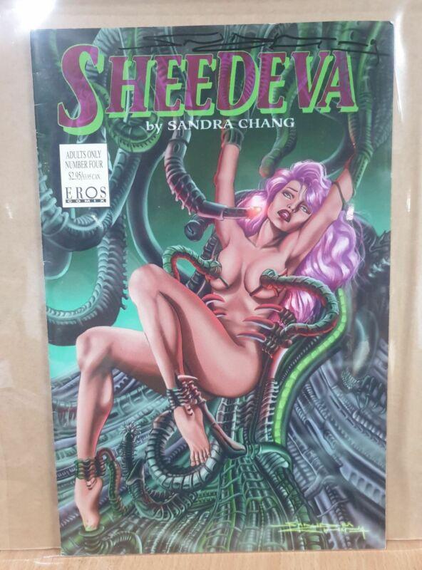 Sheedeva Sandra Chang Signed Comic Book ADULT b