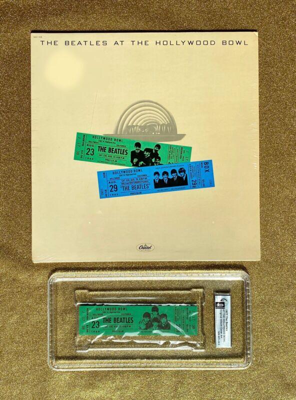 The BEATLES Hollywood Bowl Rock Concert Original Album Art Ticket Rare AOR FD BG