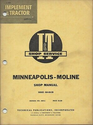 It Minneapolis Moline Shop Manual Gb Ub Zb