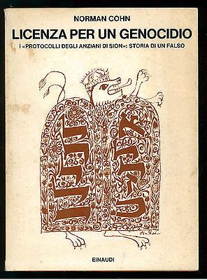 COHN NORMAN LICENZA PER UN GENOCIDIO 1969 EINAUDI 1969 SAGGI 451 SIONISMO