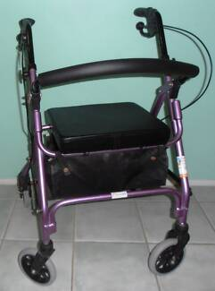 PALE PURPLE WHEELIE / WHEELY WALKER / ROLLATOR - VGC